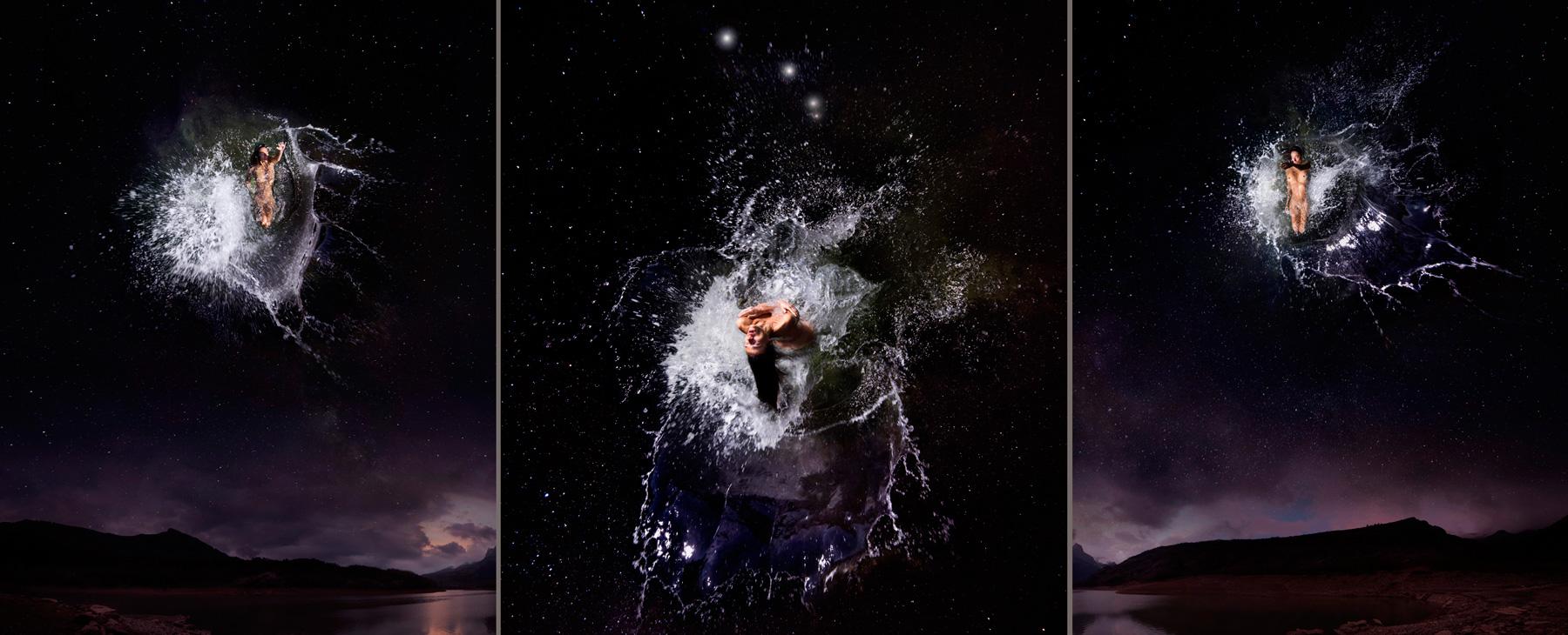 EUFONÍA de la Constelación de ARIES. Fotografía digital nocturna y acuática. Configuración y retoque digitales