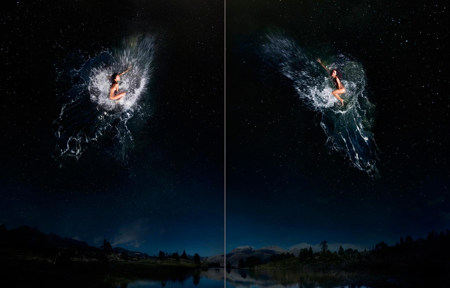 Estrella (β) geminorum - Pólux / Estrella (γ) geminorum  - Alhena
