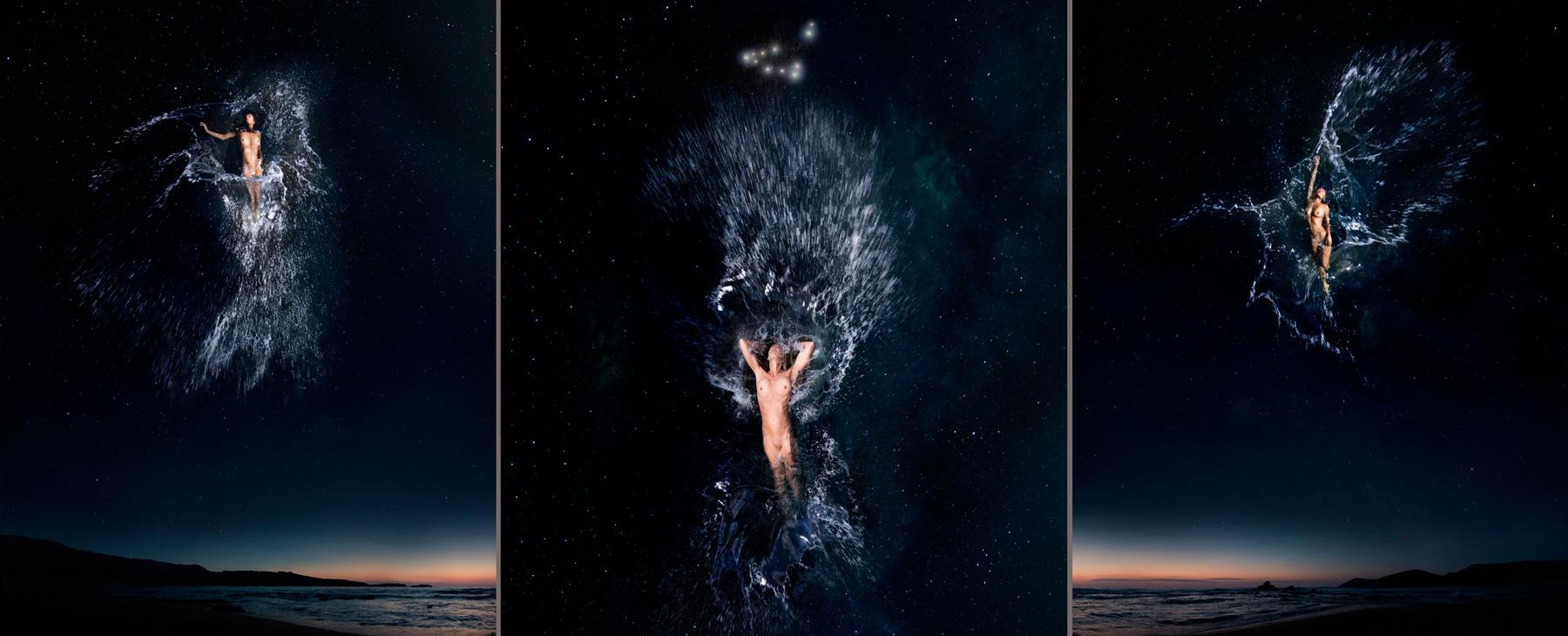 EUFONÍA de la Constelación de CAPRICORNIO. Fotografía digital nocturna y acuática. Configuración y retoque digitales
