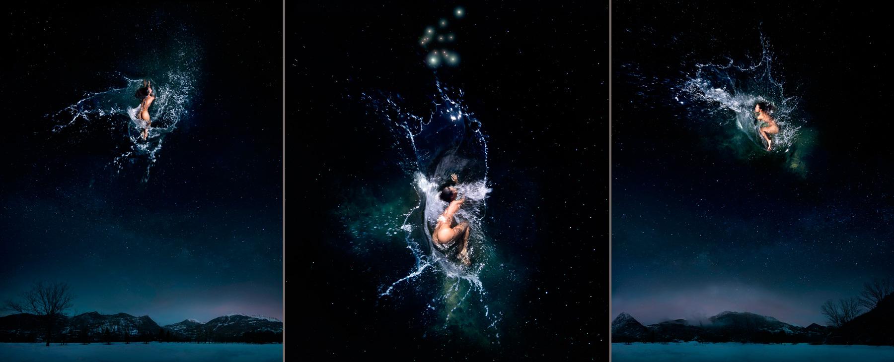 EUFONÍA de la Constelación de ACUARIO. Fotografía digital nocturna y acuática. Configuración y retoque digitales