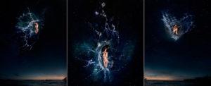 EUFONÍA de la Constelación de PISCIS. Fotografía digital nocturna y acuática. Configuración y retoque digitales thumb