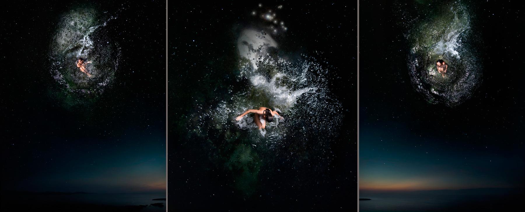 EUFONÍA de la Constelación de TAURO. Fotografía digital nocturna y acuática. Configuración y retoque digitales