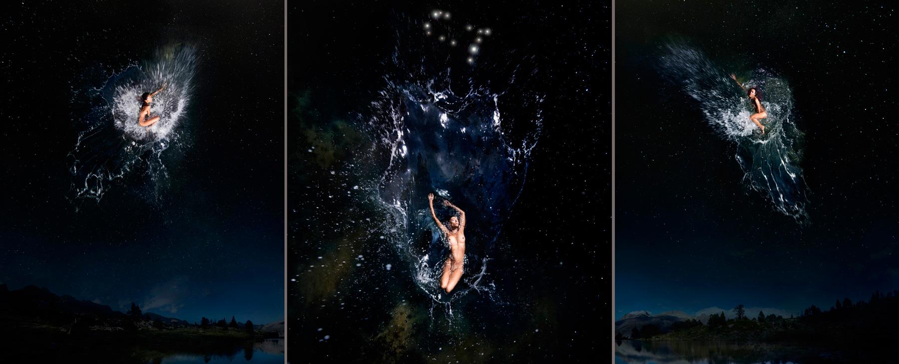 EUFONÍA de la Constelación de GÉMINIS. Fotografía digital nocturna y acuática. Configuración y retoque digitales
