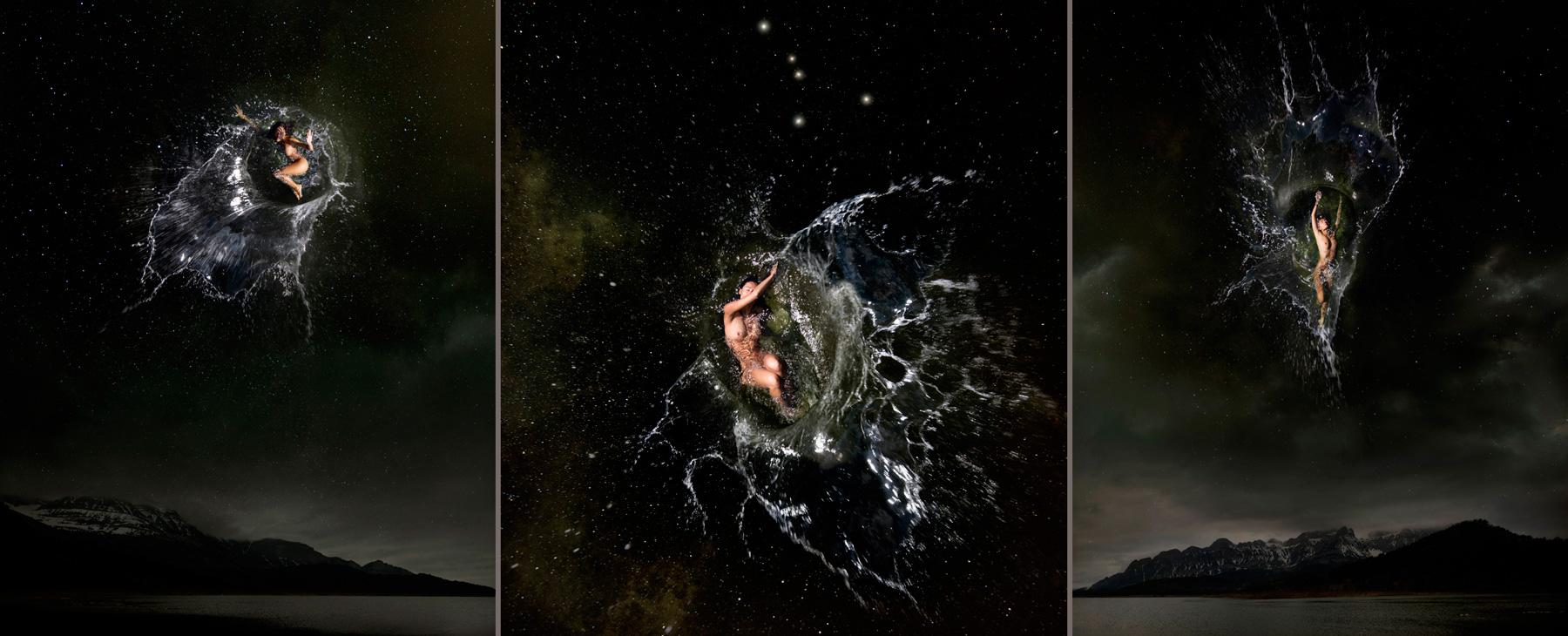 EUFONÍA de la Constelación de CANCER. Fotografía digital nocturna y acuática. Configuración y retoque digitales