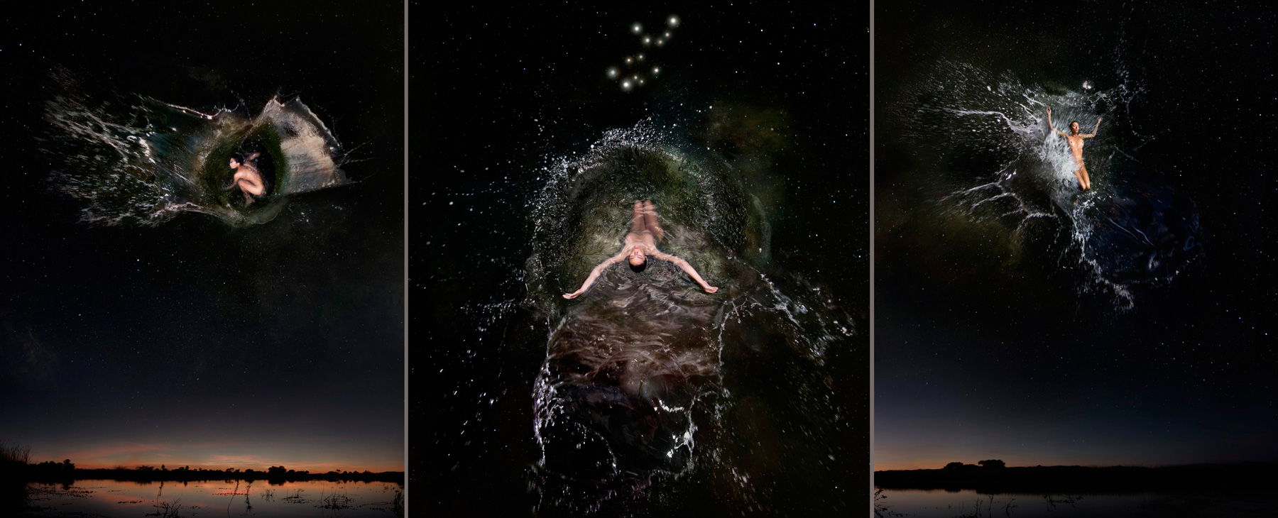 EUFONÍA de la Constelación de VIRGO. Fotografía digital nocturna y acuática. Configuración y retoque digitales