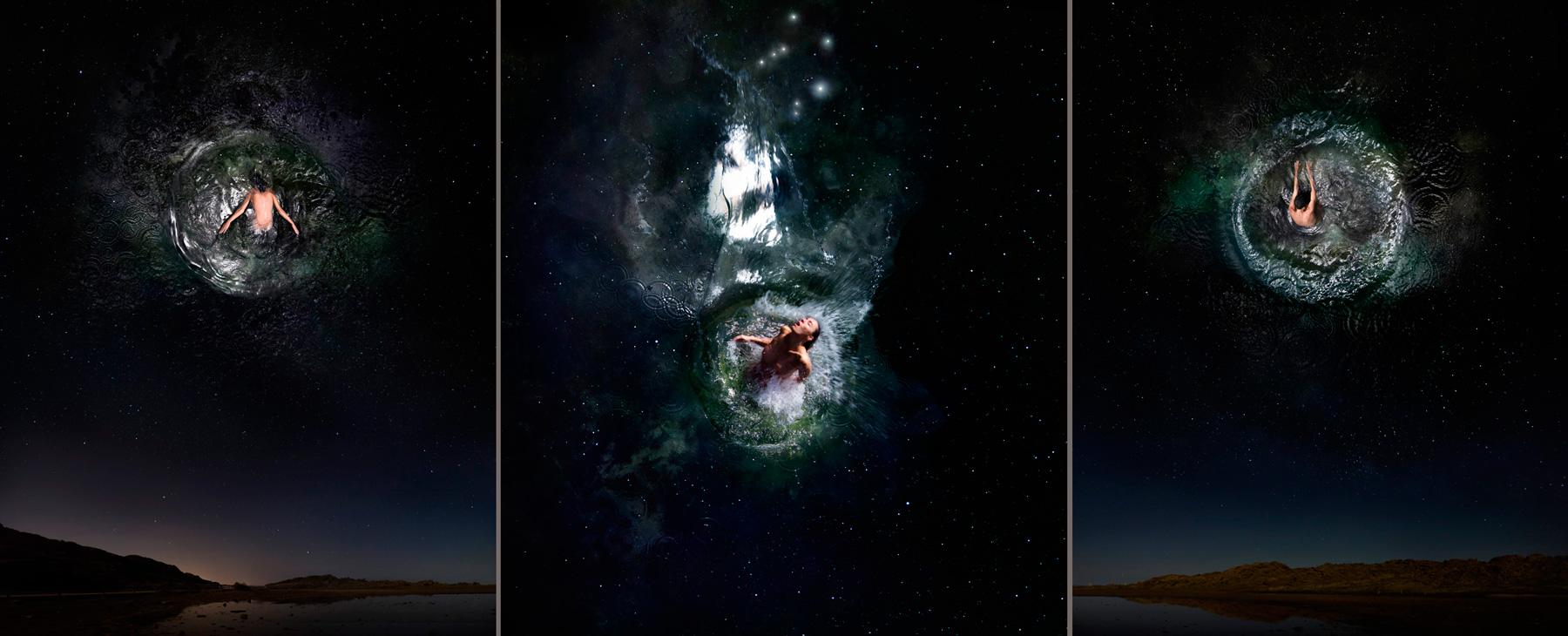 EUFONÍA de la Constelación de LIBRA. Fotografía digital nocturna y acuática. Configuración y retoque digitales