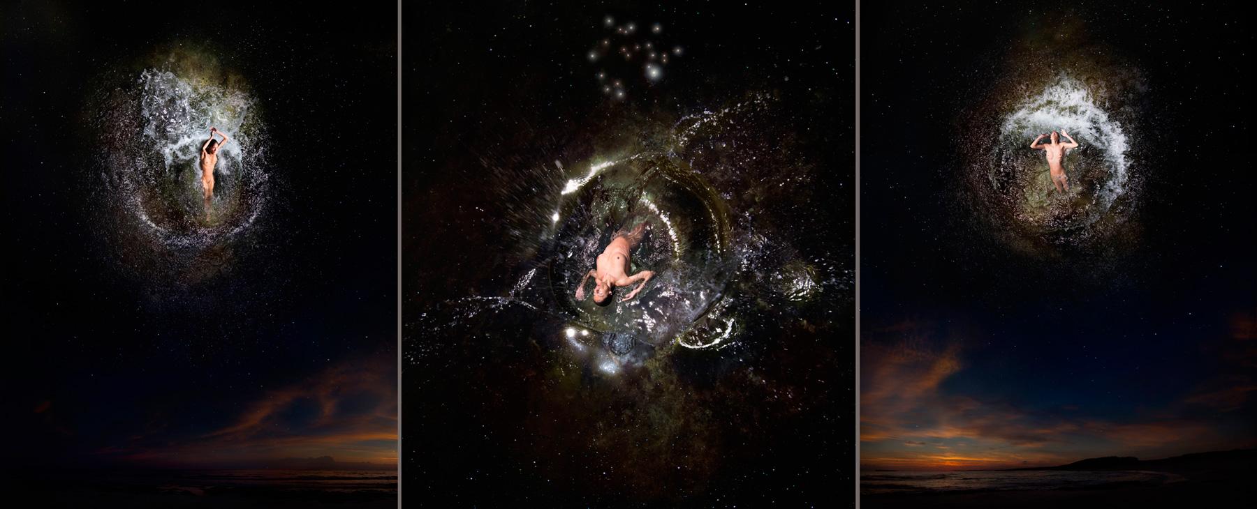 EUFONÍA de la Constelación de SAGITARIO. Fotografía digital nocturna y acuática. Configuración y retoque digitales